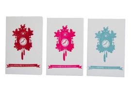 Kaart verhuizing   Zoals het klokje thuis tikt   neon roze
