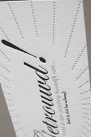 Kaart bruiloft | Getrouwd | zilver/zwart