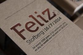 Geboortekaartje | letterpress  | 10 x 20 cm | Folie druk | 'Feliz Kraft' vanaf