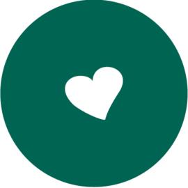 Geboorte sluitzegels | hartje | donkergroen emerald