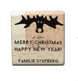 Stempel kerst | Moose | persoonlijke naam