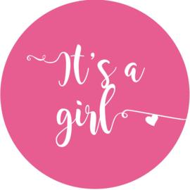 Geboorte sluitzegels | It's a girl| fuchsia roze
