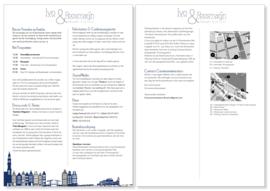 Trouwkaart   letterpress    trouwstijl    8 x 20 cm   2  kleuren    'Skyline Amsterdam +Ijburg' vanaf