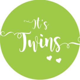 Geboorte sluitzegels | Tweeling | It's twins | groen
