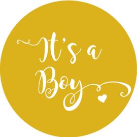 Geboorte sluitzegels | It's a boy | okergeel