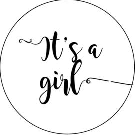 Geboorte sluitzegels | It's a girl | wit/zwart