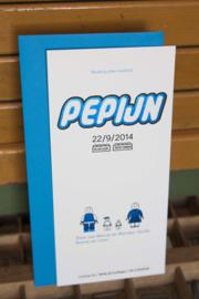 Geboortekaartje | letterpress  | 10 x 20 cm | Folie druk | 'Legostijl Pepijn' vanaf