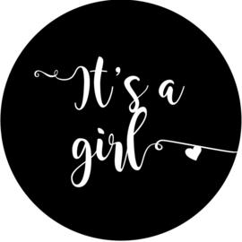 Geboorte sluitzegels | It's a girl | zwart