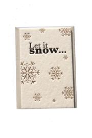 Kerstkaart  | Let is snow | 850 gram | goud/zwart
