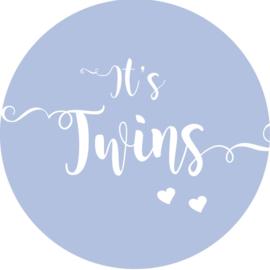 Geboorte sluitzegels | Tweeling | It's twins | baby blauw