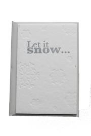Kerstkaart | Let is snow | 850 gram | zilver