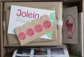 Geboortekaartje | letterpress  | 11 x 17cm | 2 keuren | 'Jolein' vanaf