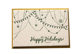 Kerstkaart | Happy Holidays | 850 gram | groen
