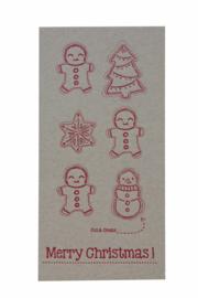 Kerstkaart | Cut & create 'Merry christmas' | 600 gram kraft | rood