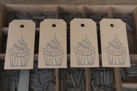 Labels | Homemade cupcake | zilver
