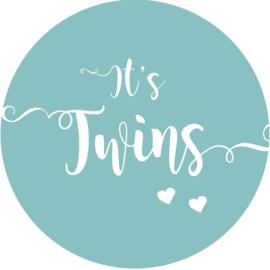 Geboorte sluitzegels | Tweeling | It's twins | petrol