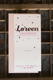 Geboortekaartje | letterpress  | 10 x 20 cm | Folie druk | 'Loreen confetti' vanaf