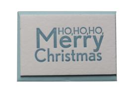 Kerstkaart | Ho ho ho Merry Christmas | 850 gram | neon roze