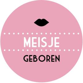 Geboorte sluitzegels | Lippen meisje | licht roze