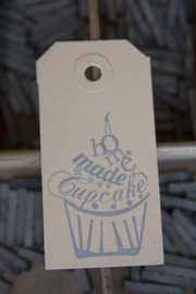 Labels | Homemade cupcake | zilver