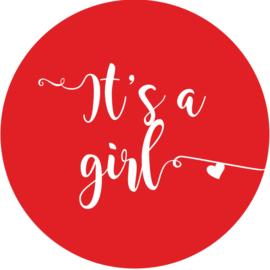 Geboorte sluitzegels | It's a girl | rood