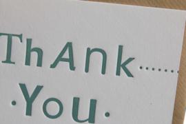 Kaart bedankt | Thank you | smoke green