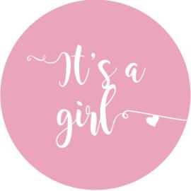 Geboorte sluitzegels | It's a girl | licht roze