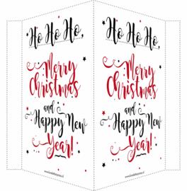 Kerstbord/raambord | Merry Christmas & Happy New Year |  rood/zwart vanaf