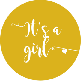 Geboorte sluitzegels | It's a girl | okergeel