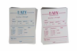 Babyshower | Baby voorspellingskaarten | Jongen/Meisje (set) | wit