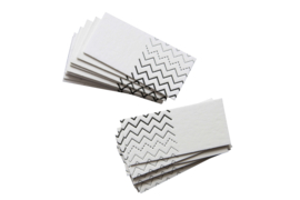 Kraamfeest/ Bruiloft | Kaartjes zigzag | set 20 stuks | wit