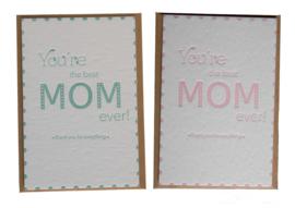 Kaarten set | Moederdag pakket | letterpress kaart + set