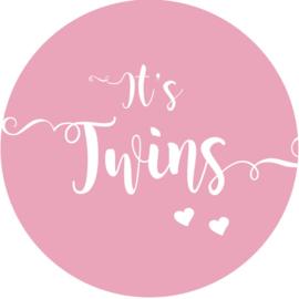 Geboorte sluitzegels | Tweeling | It's twins |  licht roze