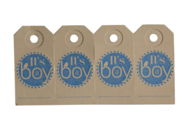 Labels| It's a boy | blauw