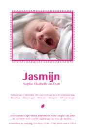 Geboortekaartje | letterpress  | 11 x 17 cm | 1 kleur | 'Fotokaart letterpress' vanaf