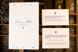 Trouwkaart | letterpress  | 11 x 17 cm | 1 kleur | 'Minimalistisch Handlettering Mildo Cilia' vanaf