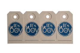 Labels | It's a boy | marine blauw