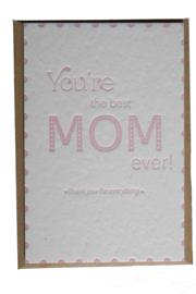 Kaart Moederdag | You're the best mom ever | rosé quartz