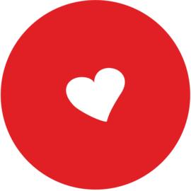 Geboorte sluitzegels | hartje | rood