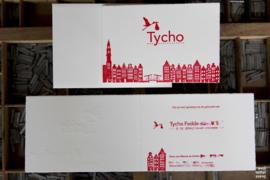 Geboortekaartje | letterpress  | 10 x 15cm | 2 drukgangen| ' Skyline Amsterdam ' vanaf