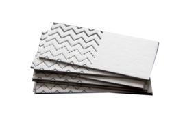 Kraamfeest/ Bruiloft   Kaartjes zigzag   set 20 stuks   wit