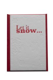 Kerstkaart | Let is snow | 850 gram | rood