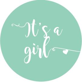 Geboorte sluitzegels | It's a girl | mint