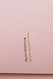 Geboortekaartje | letterpress  | 10 x 20 cm | Folie druk | 'Laure roze' vanaf