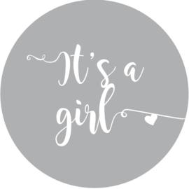 Geboorte sluitzegels | It's a girl | grijs