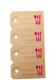 Labels | Bestek | fluor/neon roze