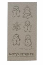 Kerstkaart | Cut & create 'Merry christmas' | 600 gram kraft | goud