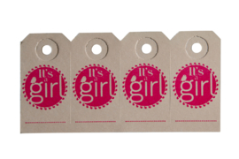 Labels | It's a girl | neon roze