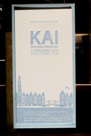 Geboortekaartje | letterpress  | 10 x 20 cm | 1 kleur | 'Skyline Amsterdam | Kai' vanaf