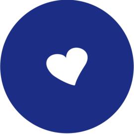 Geboorte sluitzegels | hartje | marine blauw
